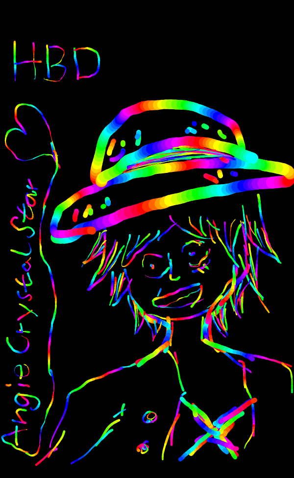 Rainbow Luffy by ServampAi