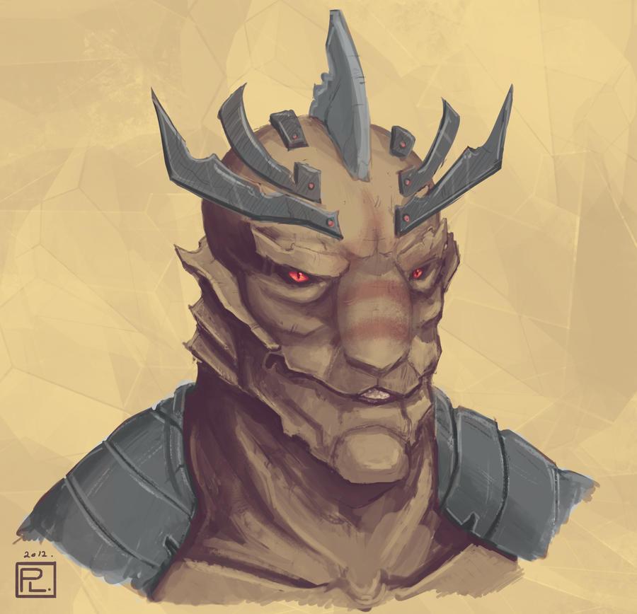 Samurai Alien Bust by Eliket