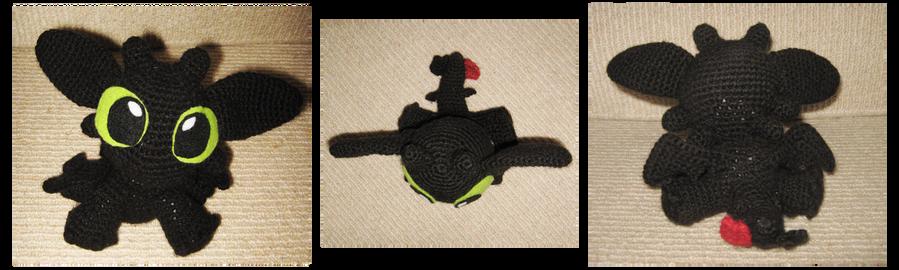 Amigurumi Watermelon Free Pattern : Toothless Amigurumi by Eliket on DeviantArt