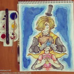 Watercolor Bill And Dipper