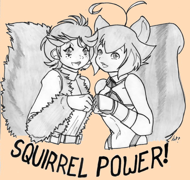 Squirrels by tohofuhai