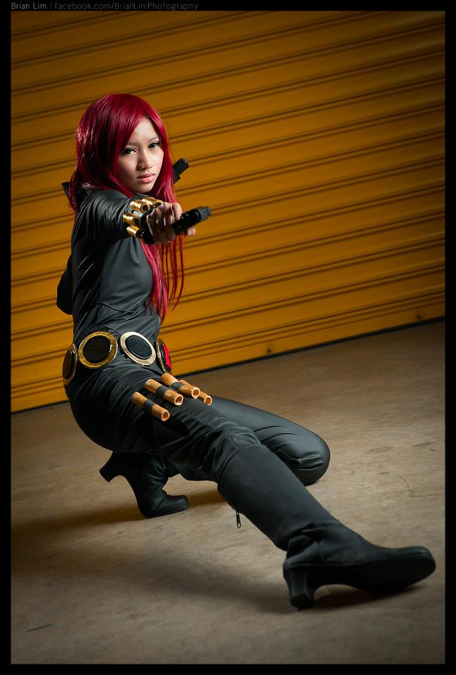 Black Widow in Action by luckysevenstars