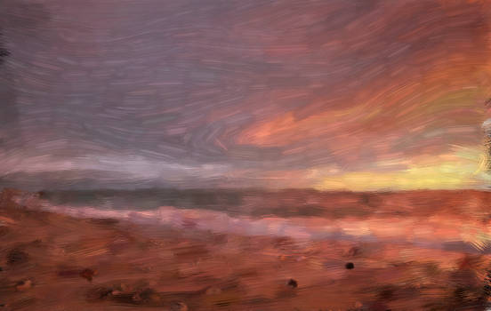 Beach Sunset Impressionism