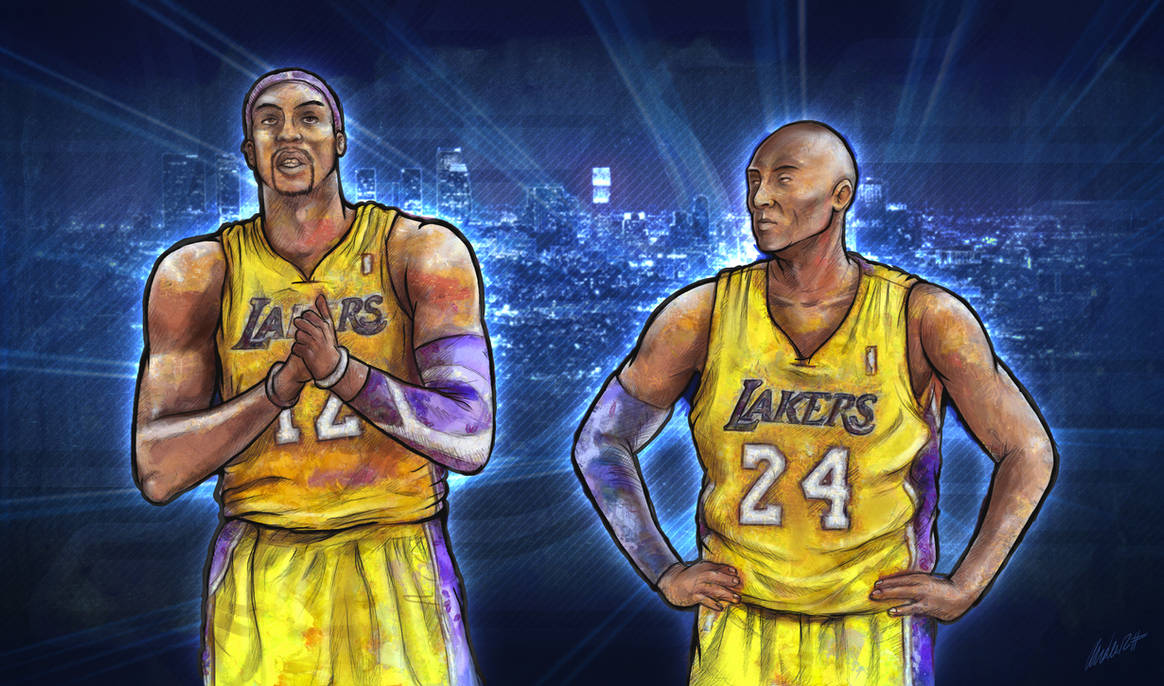 Kobe Bryant and Dwight Howard (Los Angeles Lakers) by Ander-Cesteros