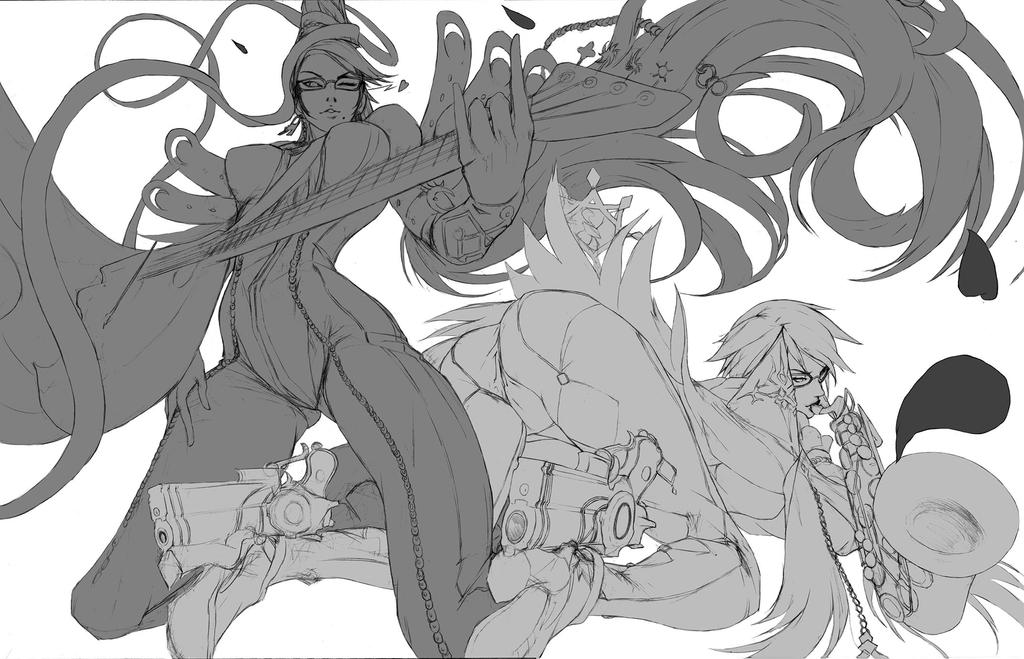double bayo (wip) by refreshyourface