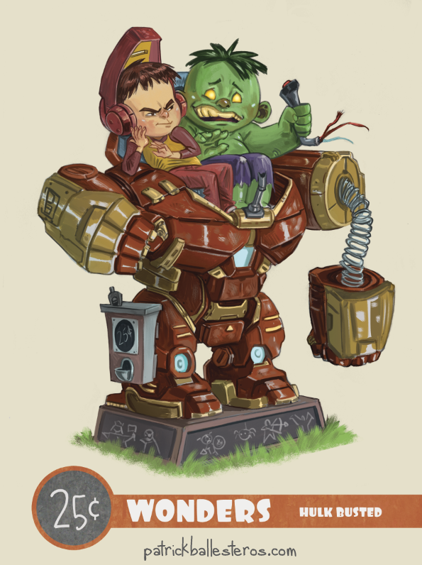 Hulk Busted by patrickballesteros