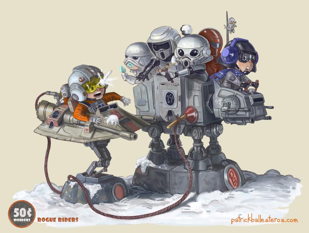 Rogue RIders by patrickballesteros