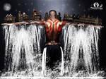 waterfall man