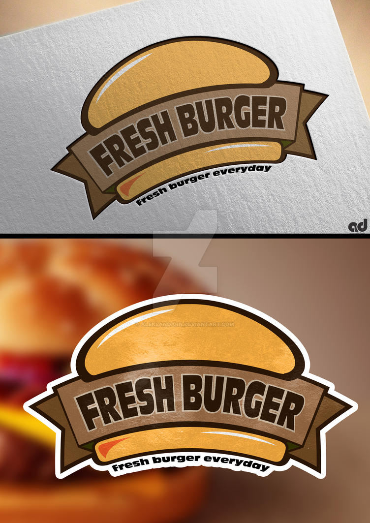 fresh burger ( logo design ) by AleksandarN