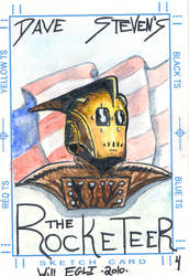 The Rocketeer ACEO by SurfTiki