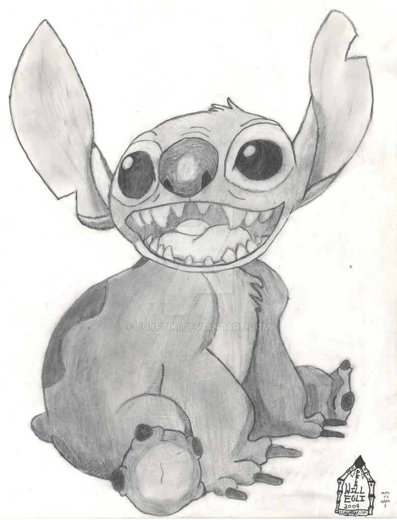 How to Draw Stitch From Lilo And Stitch Lilo And Stitch Drawing 2004