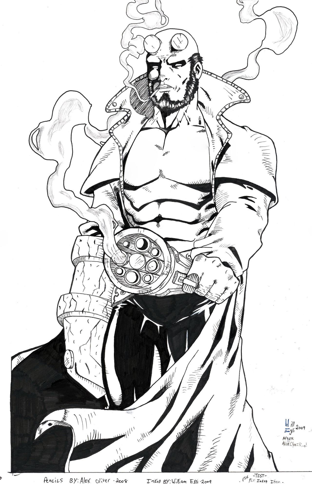 Hellboy ink - 1st light box by SurfTiki on DeviantArt
