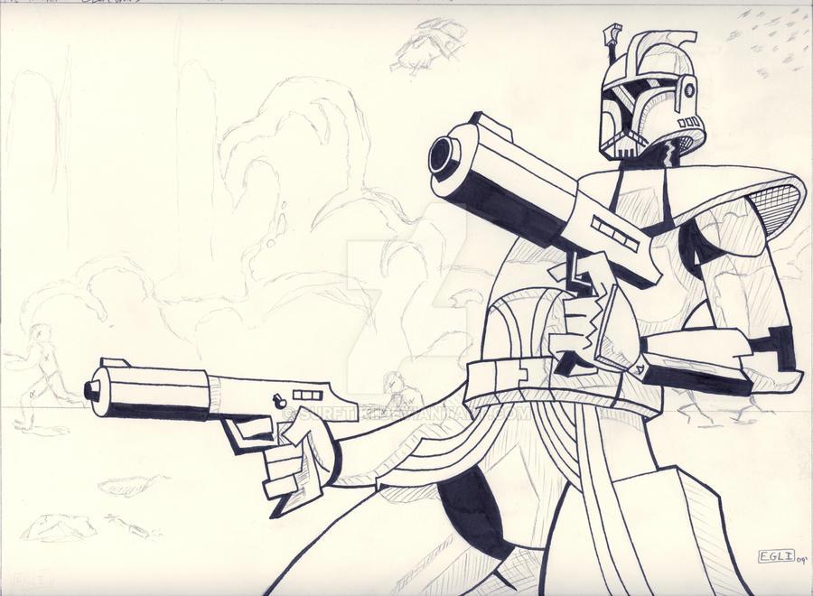Clone Commander Wip Star Wars By Surftiki On Deviantart