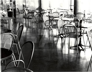Chairs at Museum Cafe' by SurfTiki