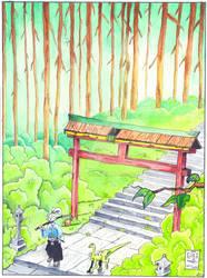 Usagi Walking the Path by SurfTiki