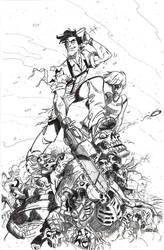 Army of Darkness Pin Up Inked - Bradshaw - Egli by SurfTiki