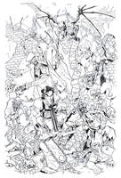 Army of Darkness Cover 1 inked -Bradshaw- Egli by SurfTiki