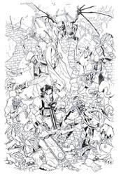 Army of Darkness Cover 1 inked -Bradshaw- Egli by SurfTiki