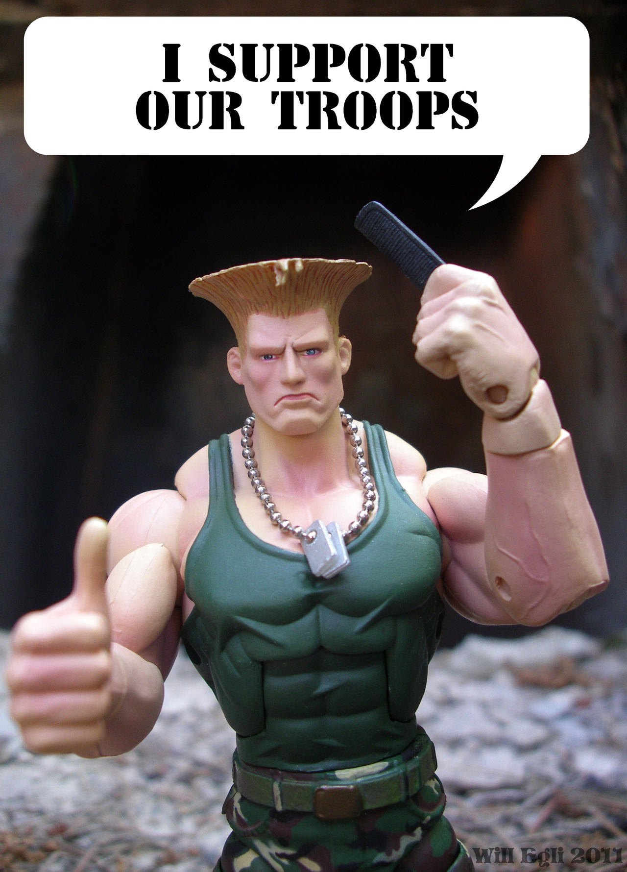 Guile Supports our Troops by SurfTiki