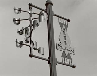 Reno Art District - light pole art by SurfTiki
