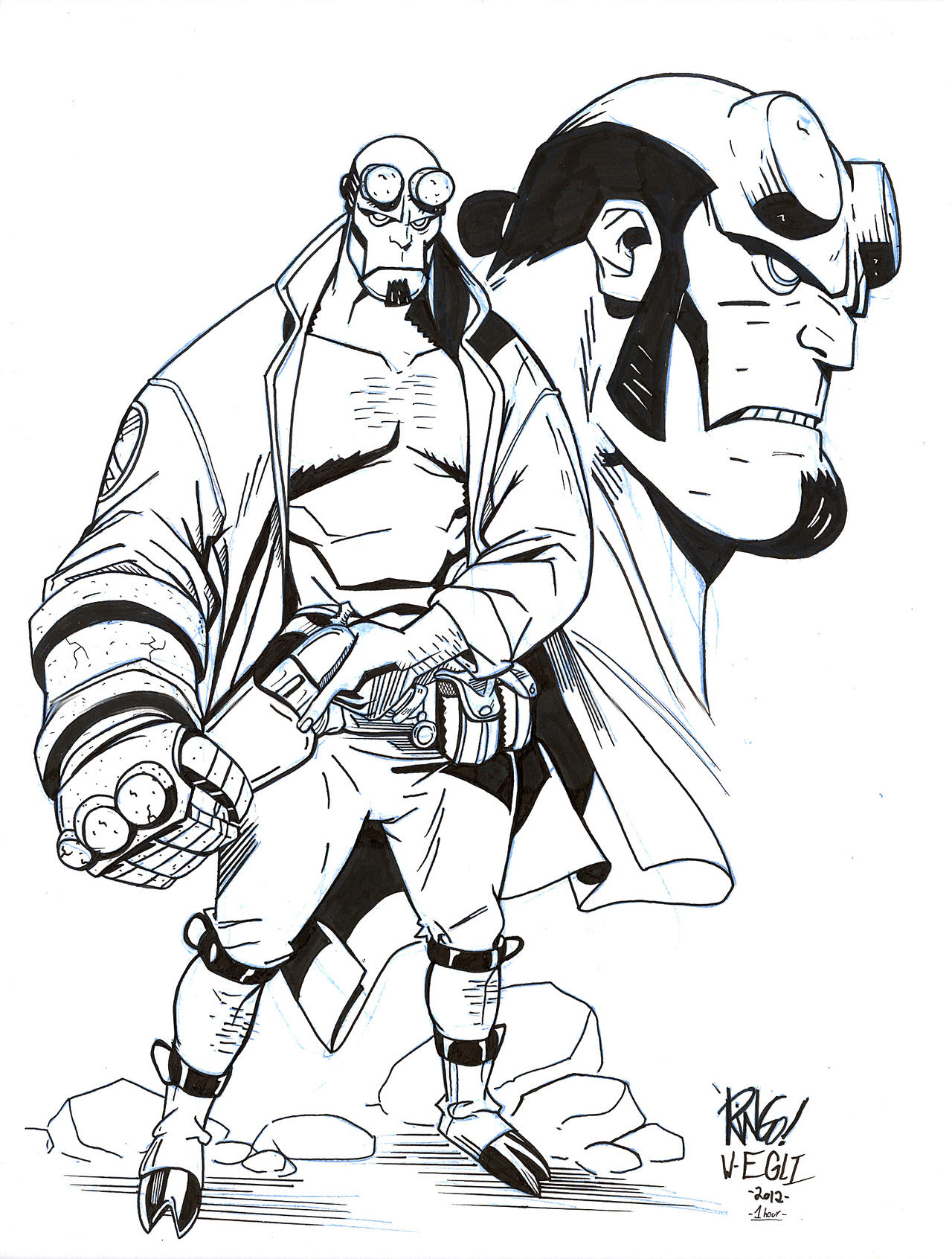 Coloring Pages Hellboy Coloring Pages hellboy coloring pages eassume com updated pg fegredo by spicercolor on deviantart