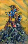 Army of Darkness Skulls Watercolor -Bradshaw- Egli