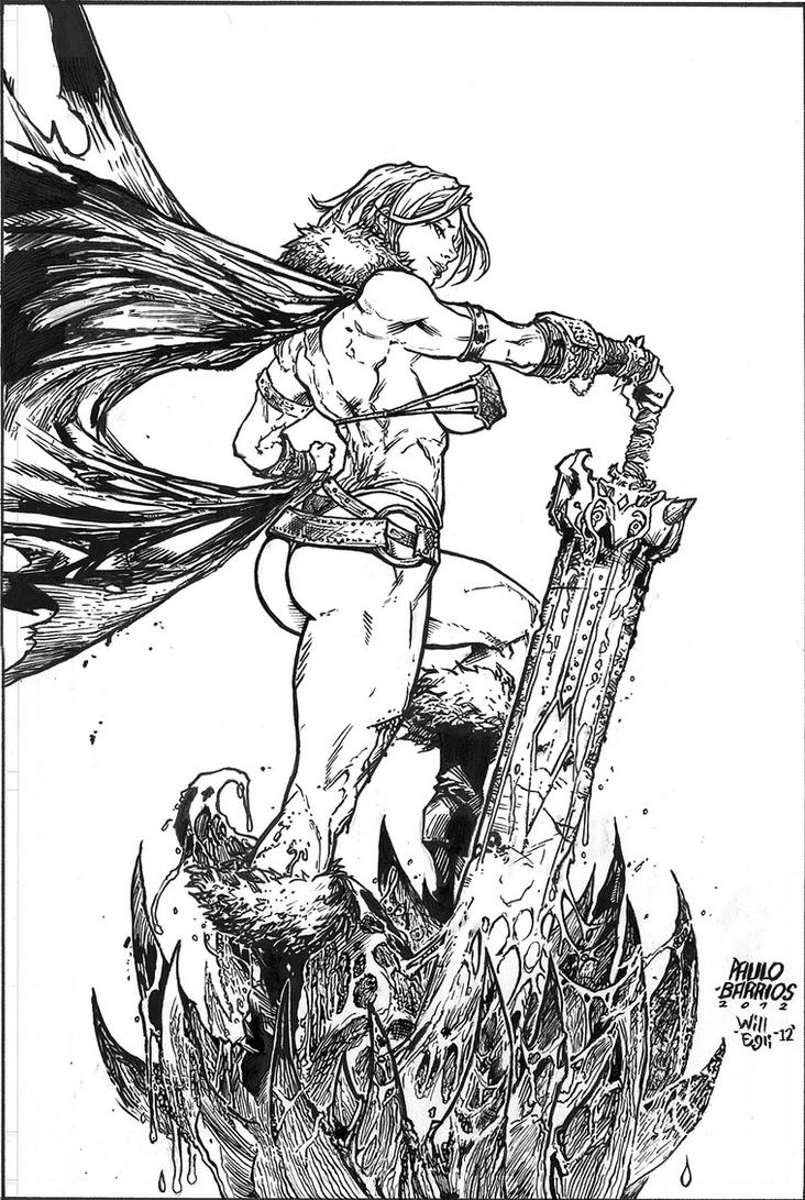 Tyra Battle Chick - Barrios - Egli - Inks by SurfTiki