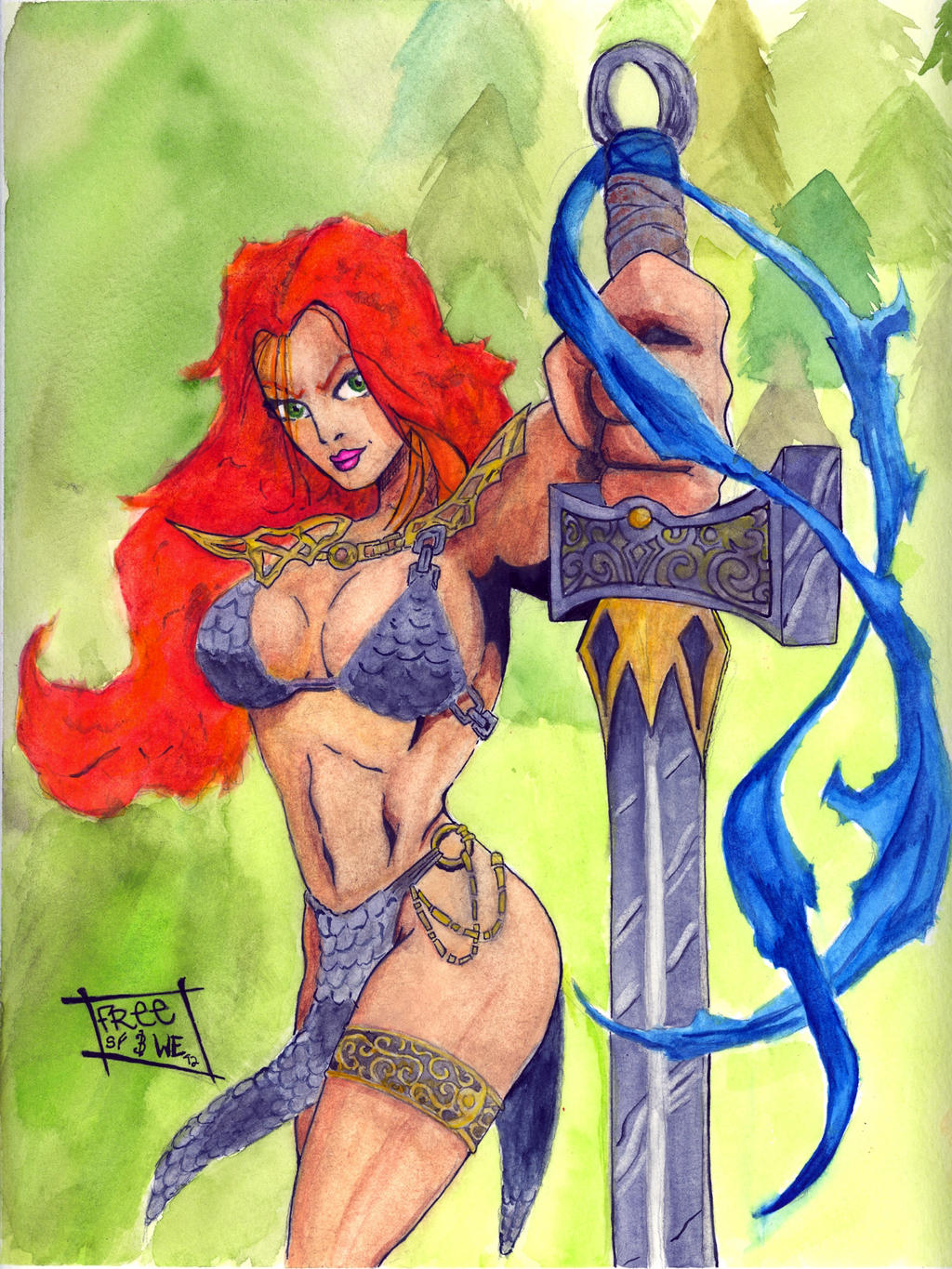 Red Sonja by SurfTiki