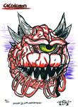 Cacodemon - Doom 20th Anniversary - Will Egli by SurfTiki