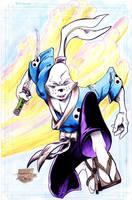 Usagi Yojimbo - Stone - Egli - Watercolor by SurfTiki
