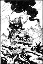 Cadillacs and Dinosaurs - Schultz - Egli - inks by SurfTiki