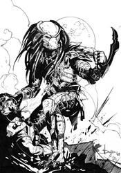 Predator - Drujiniu - Egli - Inks by SurfTiki