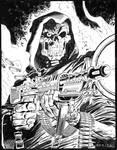 Death G.I. Joe #43 Cover - Zeck - Egli - Inks