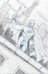 Commission - Mark as Hero JB LV - Pencils - Egli