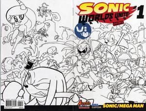 Sonic Worlds Unite #1 Cover inks - Egli
