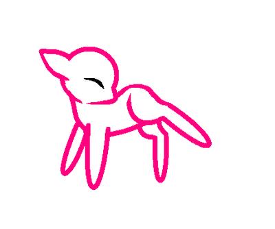 Free Chibi Pony Base by skeletorg