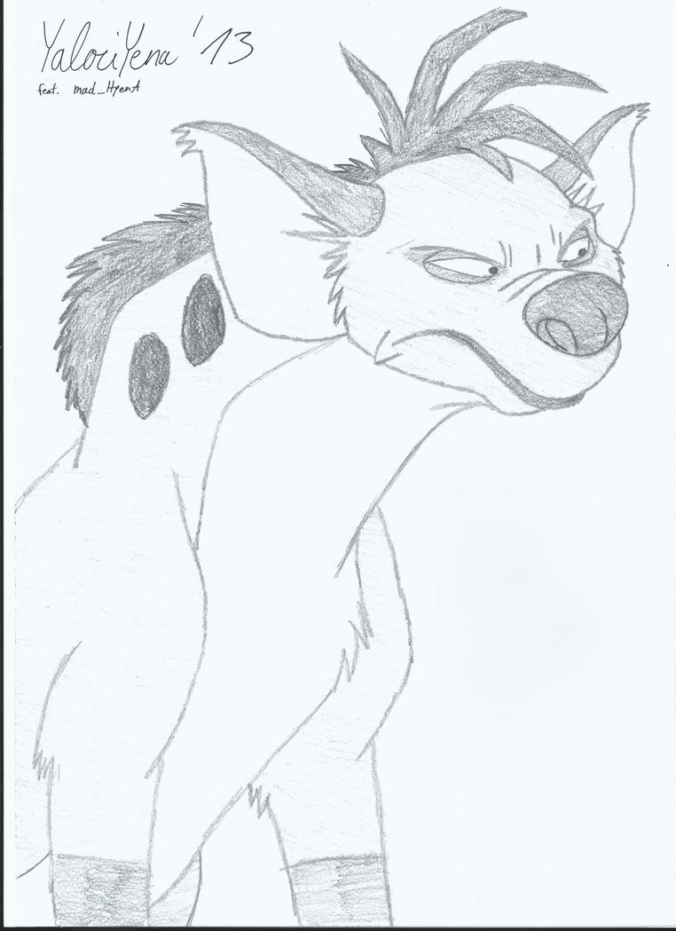 Shenzi Hyena Sketch 2 by YalociYena