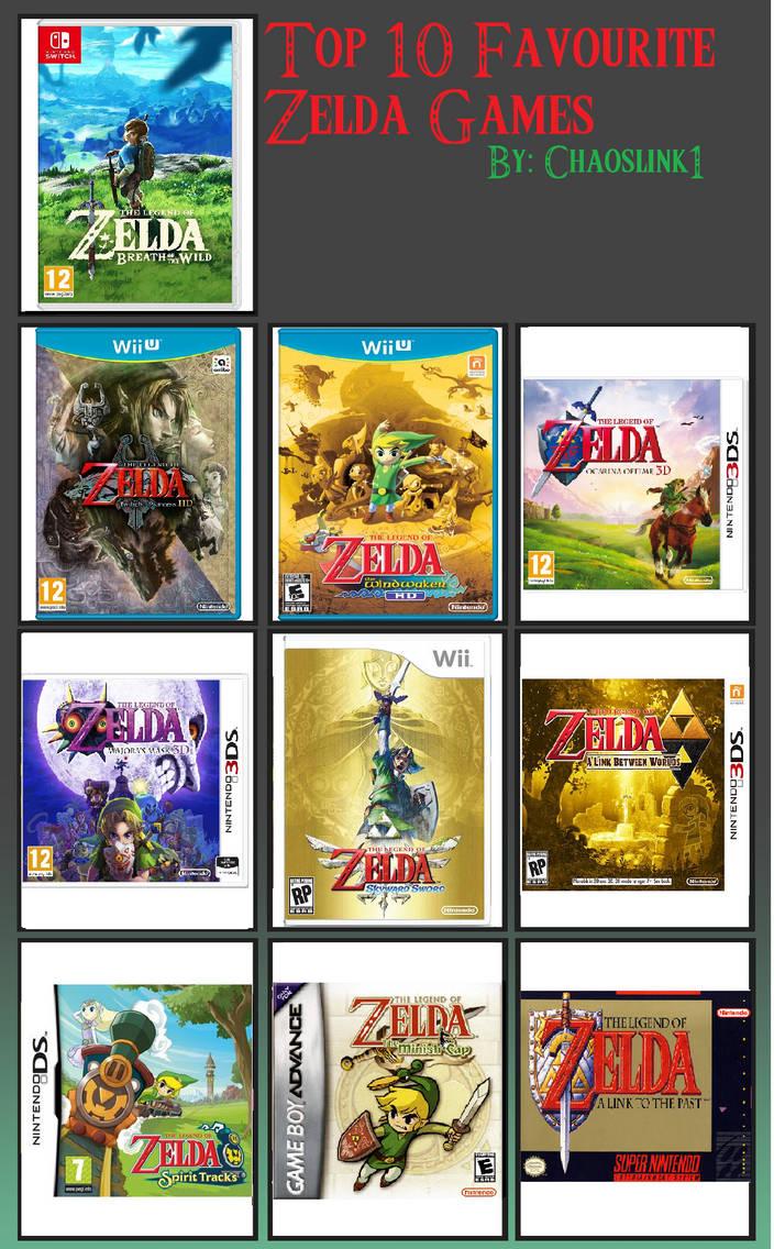 My Top 10 Favourite Zelda Games List by Chaoslink1 on DeviantArt