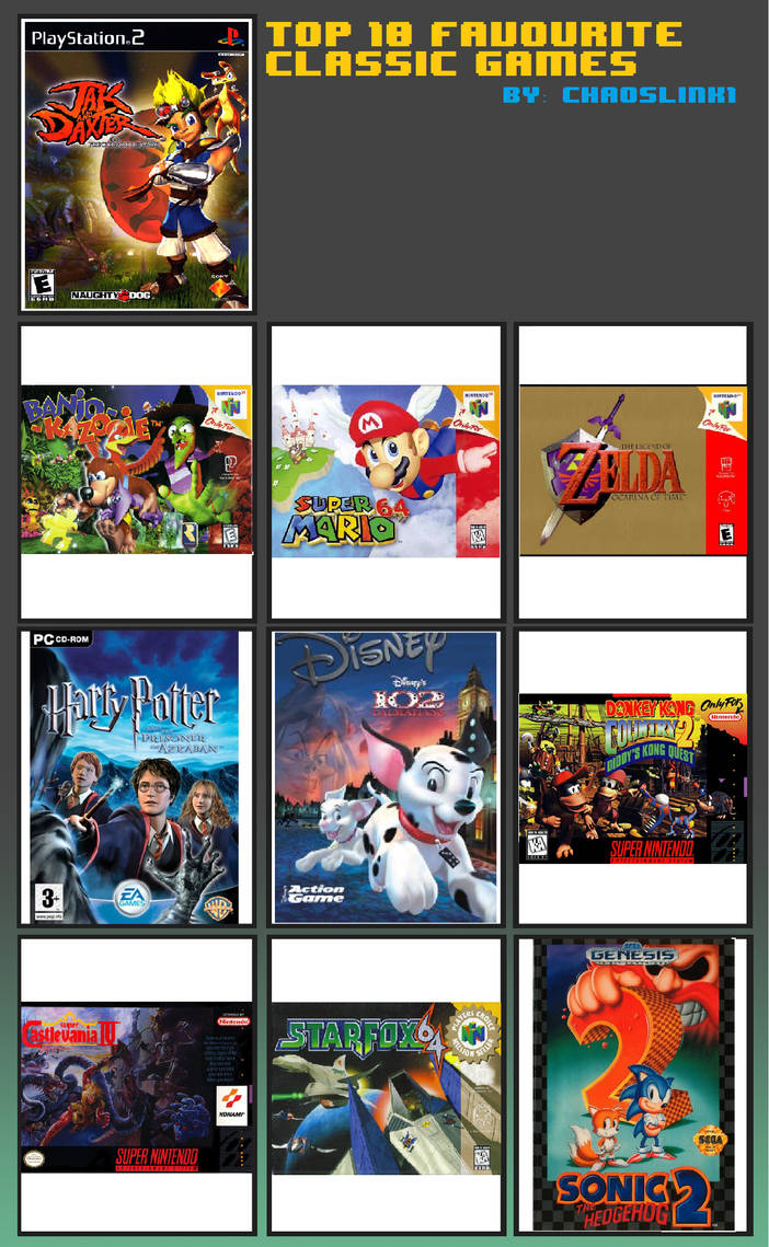 My Top 10 Favourite Classic Games List by Chaoslink1 on