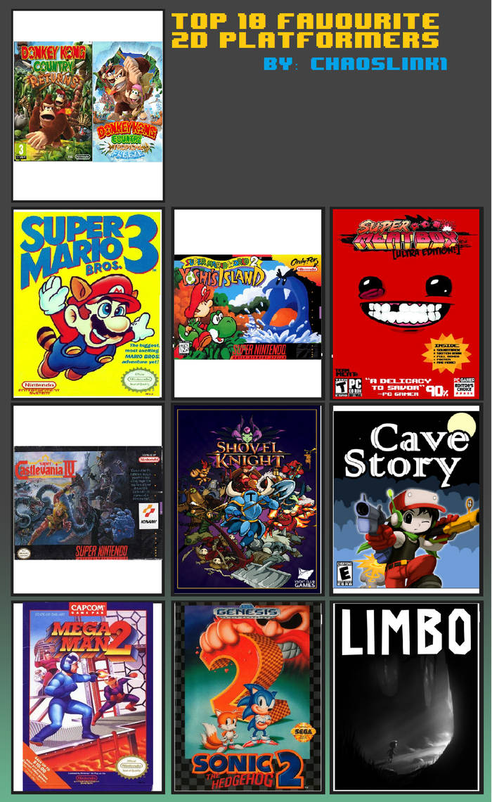 My Top 10 Favourite 2D Platformers List by Chaoslink1 on