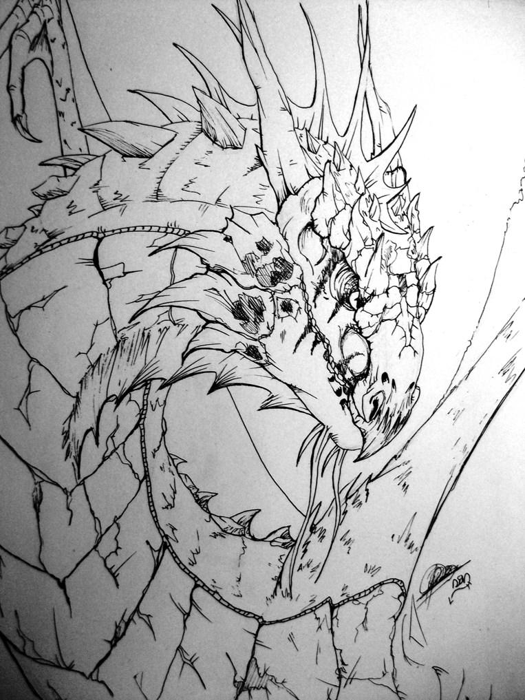 dragon- wyvern by lichdrael