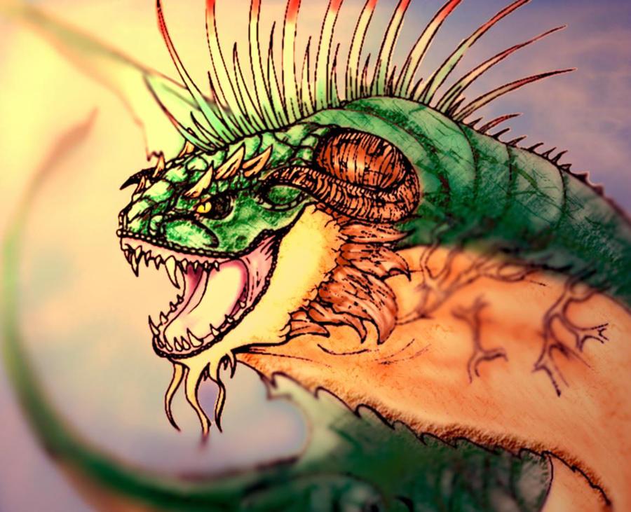 wyvern quetzal. 2 by lichdrael