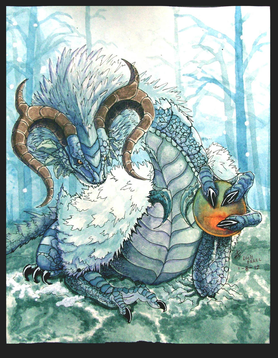 rehgerss, dragon de hielo by lichdrael