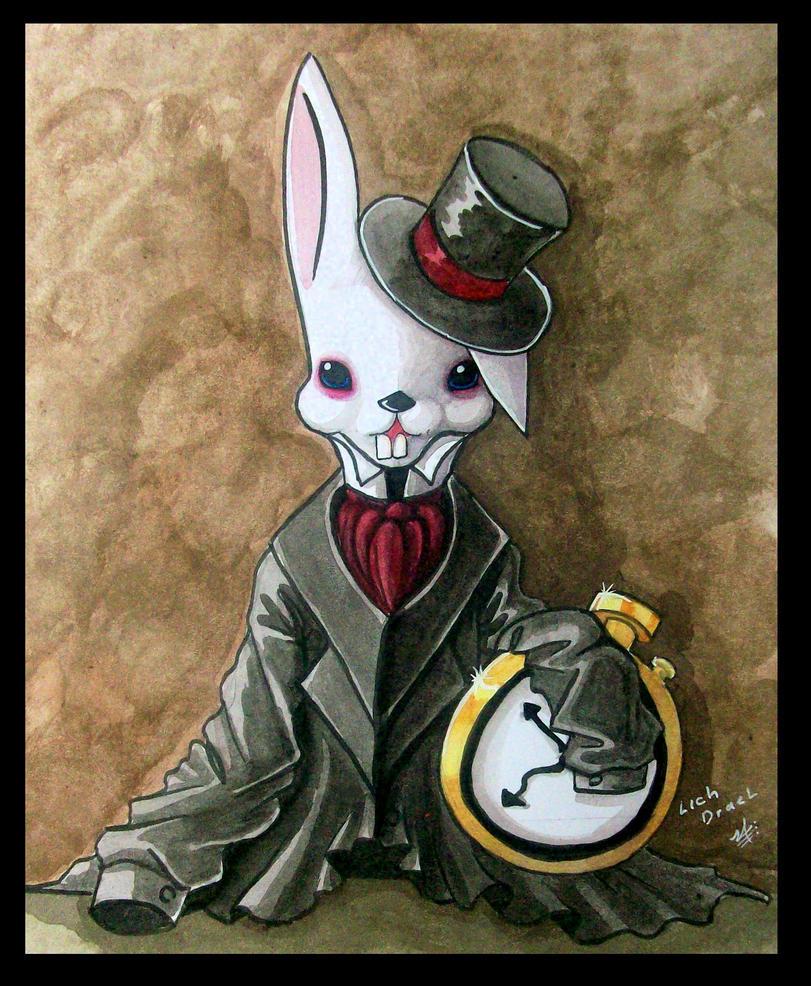 conejo blanco by lichdrael