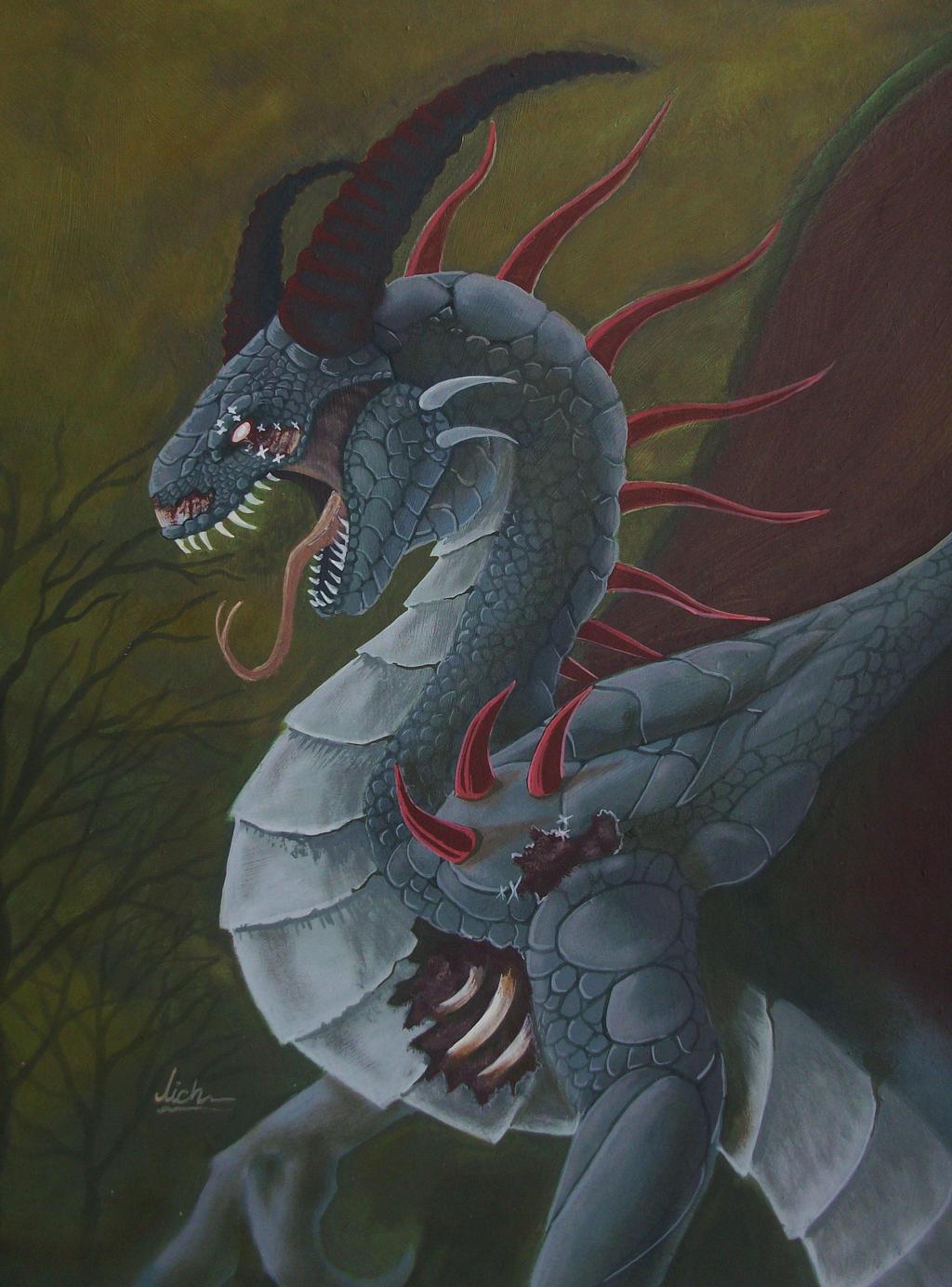 Dunkan dragon de los espiritus by lichdrael