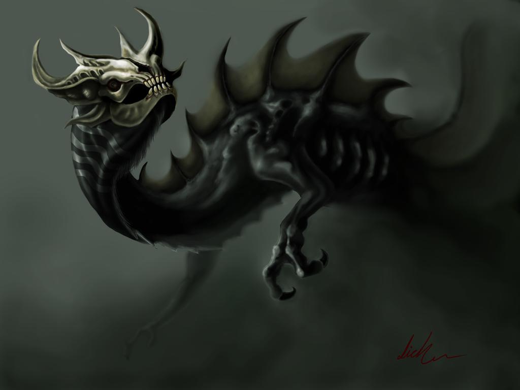 Dragon del miedo by lichdrael
