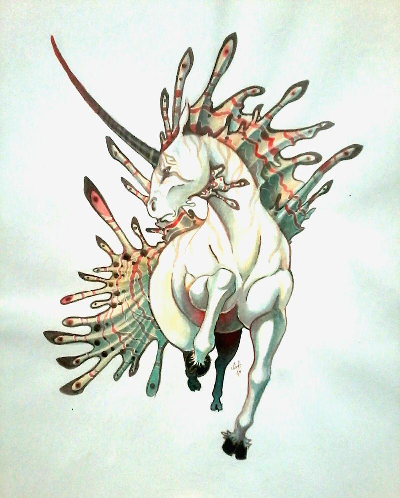unicornio de las profundidades by lichdrael