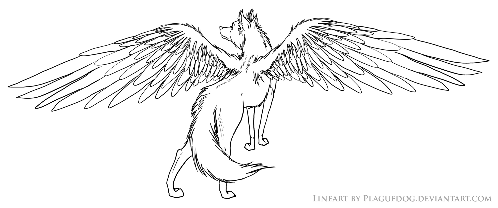 Evil Winged Wolf Coloring Pages