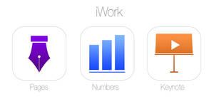 Minimal iOS 7 iWork icons redesign Concept