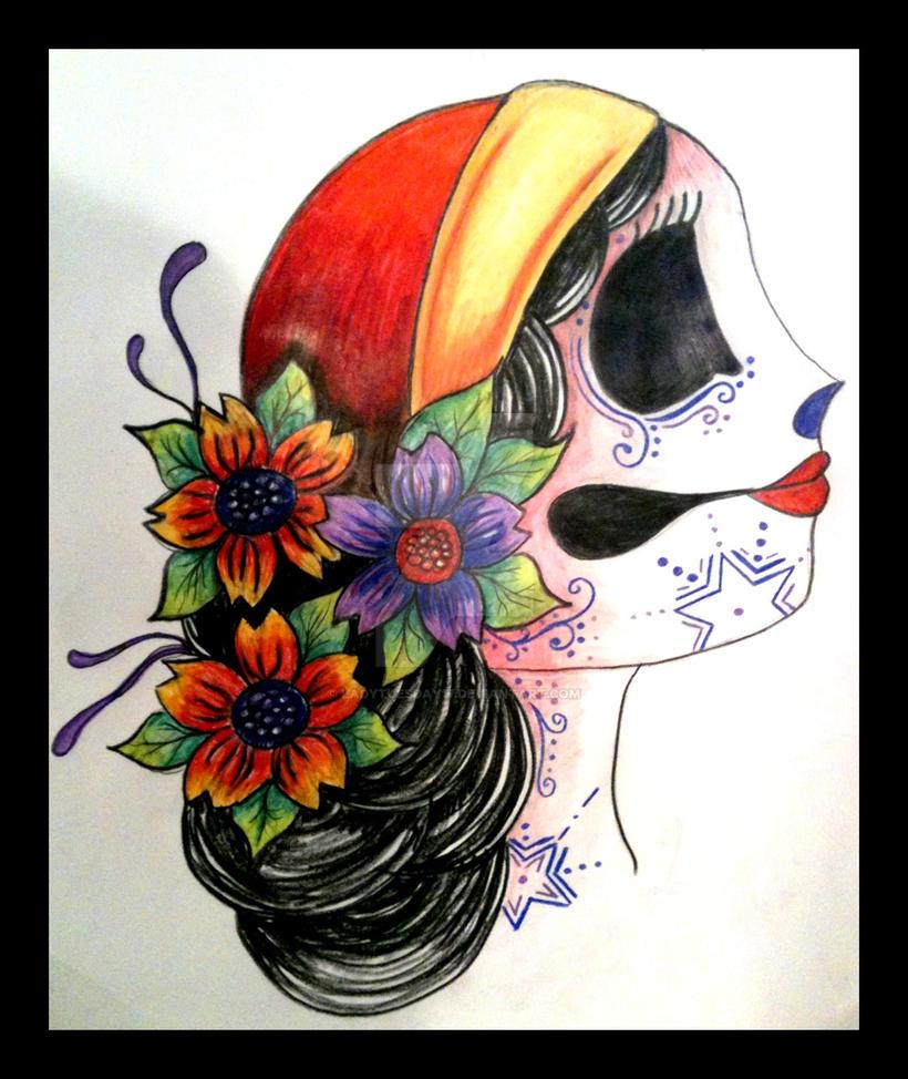 Sugar Skull Tattoo Design by LadyTuesday17 on DeviantArt